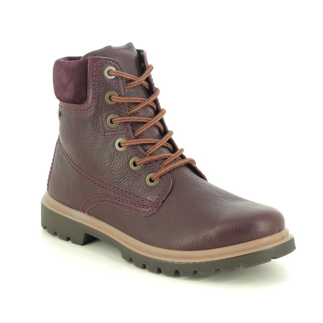 Legero Lace Up Boots - Burgundy Leather - 2009672/5900 MONTA LACE GTX