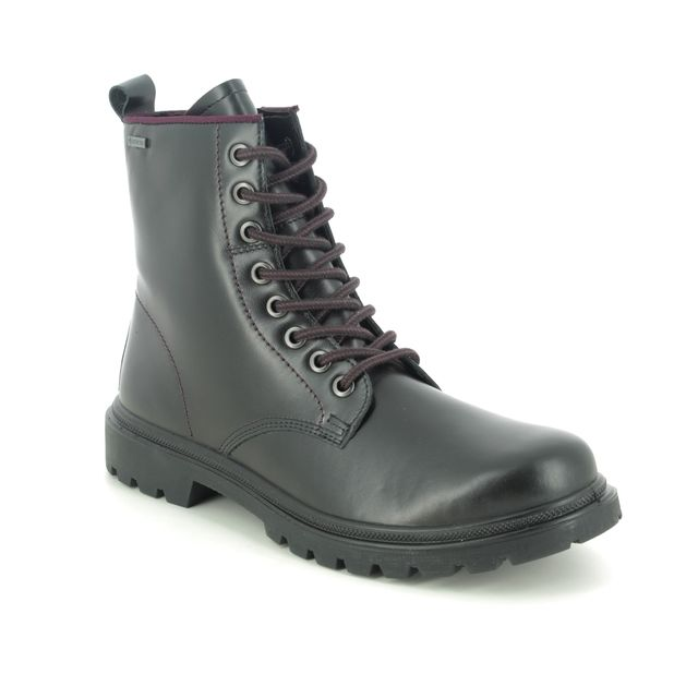 Legero Lace Up Boots - Black leather - 2009670/0200 MONTA LOOP GTX