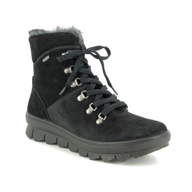 Legero Winter Boots - Black Suede - 00503/00 NOVARA GTX
