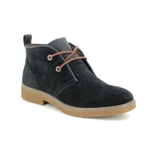 Legero Ankle Boots - Navy suede - 00683/80 SOANA LACE GORE