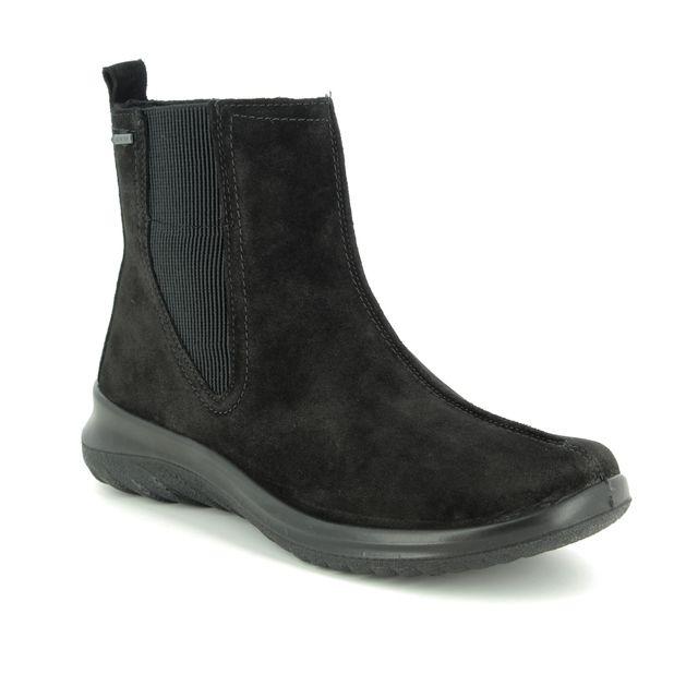 Legero Chelsea Boots - Black suede - 09571/00 SOFT CHELSEA GTX