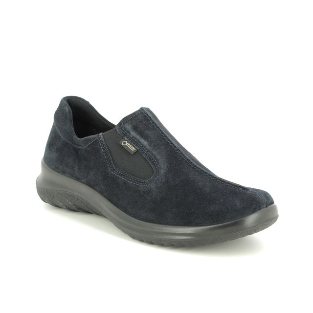 Legero Comfort Shoes - Navy suede - 09568/80 SOFT SHOE GTX