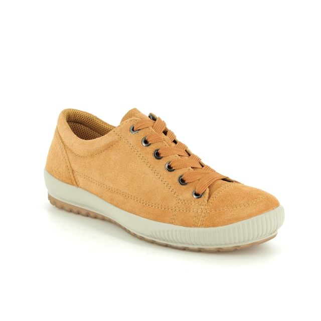 Legero Comfort Slip On Shoes - Yellow Suede - 00820/63 TANARO STITCH