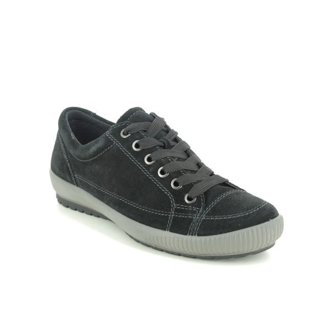 Legero Lacing Shoes - Black Suede - 0800820/0000 TANARO STITCH