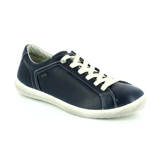 Legero Tino Gore-tex 00595-80 Blue lacing shoes