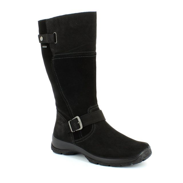 Legero Yukon 42 00546-00 Black nubuck knee-high boots