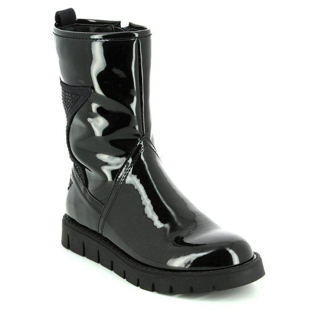 Lelli Kelly Boots - Black patent - LK7450/FB01 JENNY
