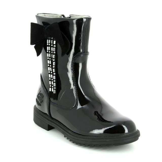 Lelli Kelly Boots - Black patent - LK7644/DB01 MARIANNE MID