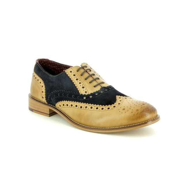 London Brogues Brogues - Tan Navy - 8601/75 GATSBY