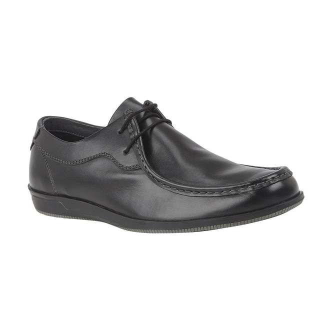 Lotus Aaron Black leather formal shoes