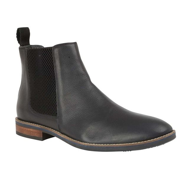 Lotus Aiden Black leather Chelsea Boots