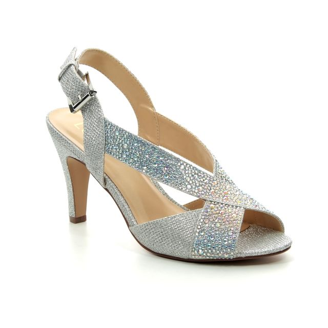 Lotus Heeled Sandals - Silver - ULS073/01 ANYA