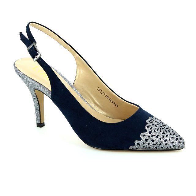 Lotus Arlind Navy multi high-heeled shoes