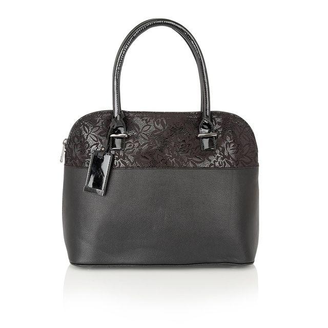 Lotus Matching Handbag - Black - 01649/30 ARVIDA KOSMO