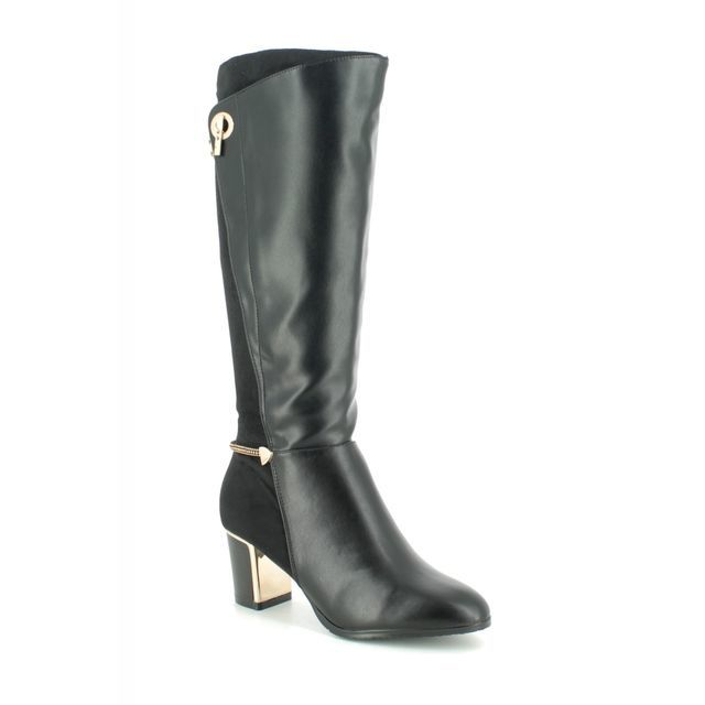 Lotus Knee-high Boots - Black - ULB100/30 AUTORA
