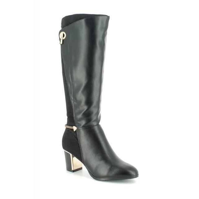Lotus Autora Black knee-high boots