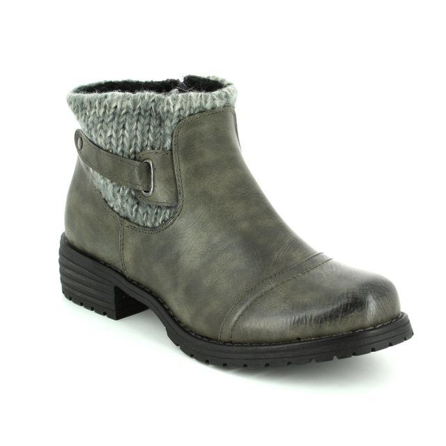 Lotus Ankle Boots - Grey - 40425/00 AYLA