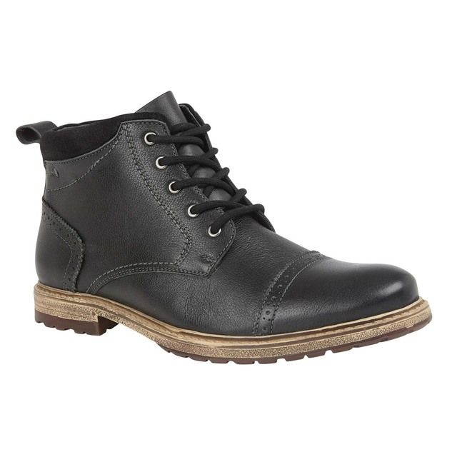 Lotus Baxter Black leather boots