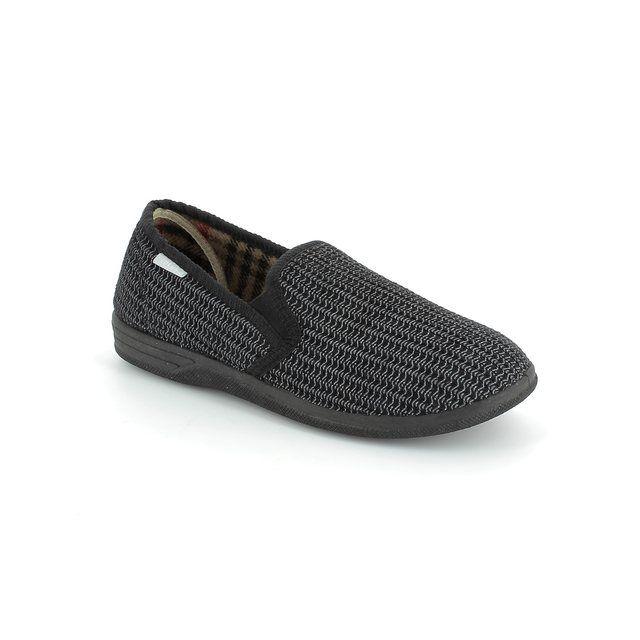 Lotus Slippers - Black - 7114/30 BEVIS