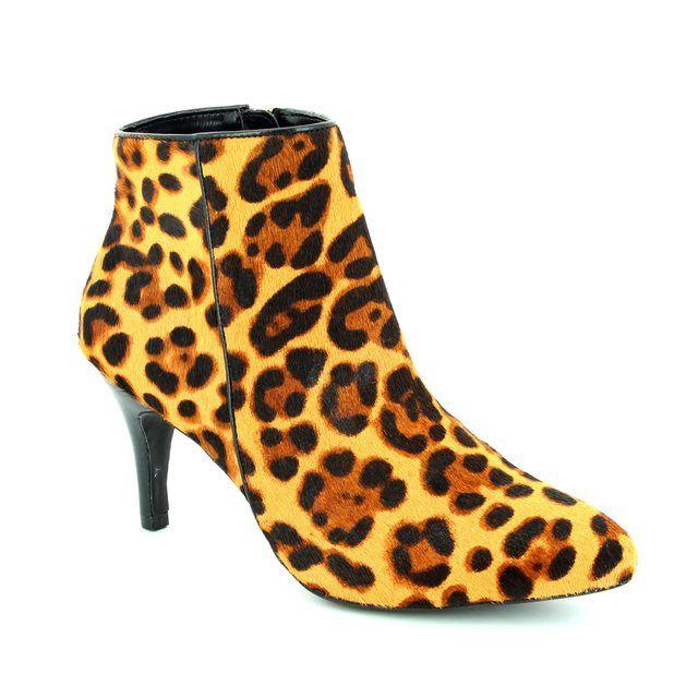 Lotus Bluma Leopard print ankle boots