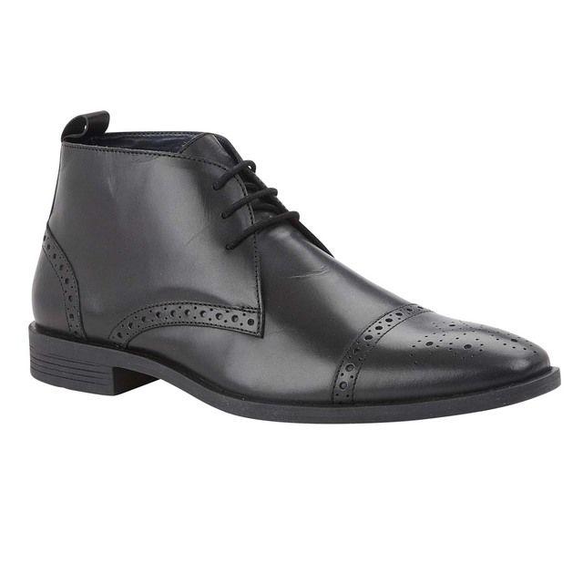 Lotus Bradley Black leather boots