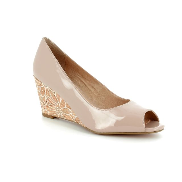Lotus Wedge Shoes - Nude Patent - 50904/56 CABINA