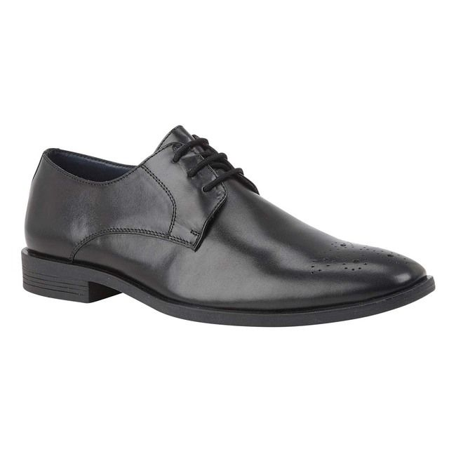 Lotus Cameron Black leather formal shoes