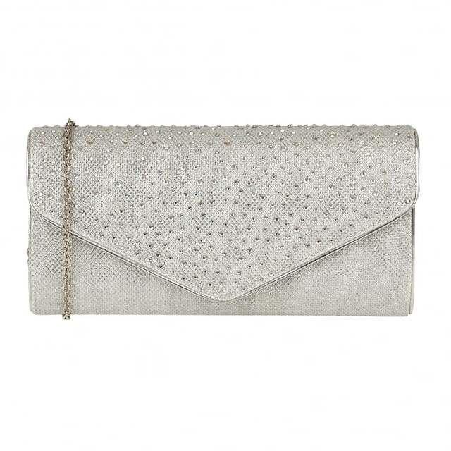 Lotus Matching Handbag - Silver Glitz - 01751/01 CARTMEL CAZADO