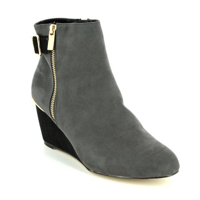 Lotus Cassia Grey multi ankle boots