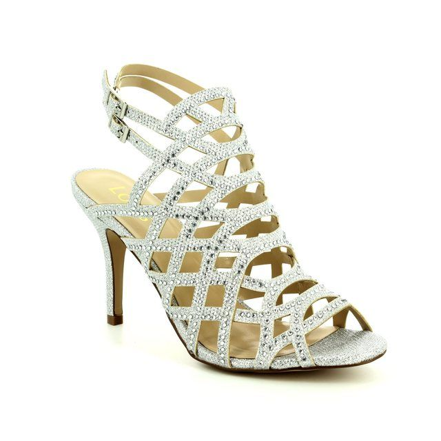 Lotus Heeled Sandals - Silver - 50885/01 CAZADORA