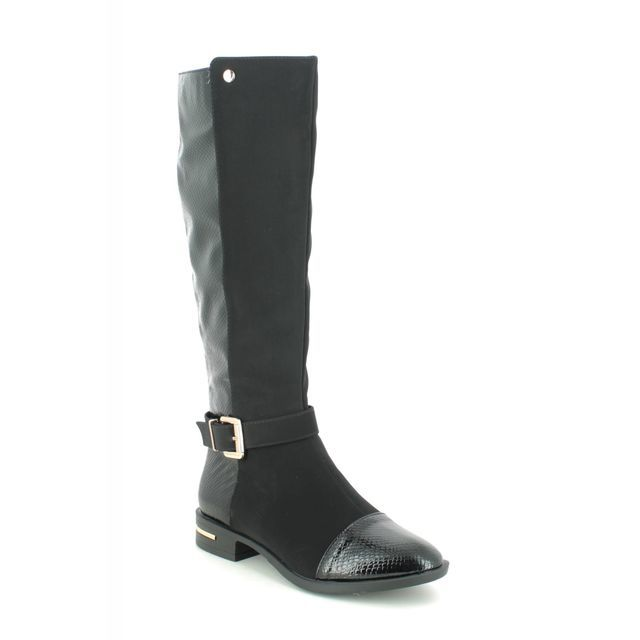 Lotus Knee-high Boots - Black patent suede - ULB145/40 CELESTE PONTAL