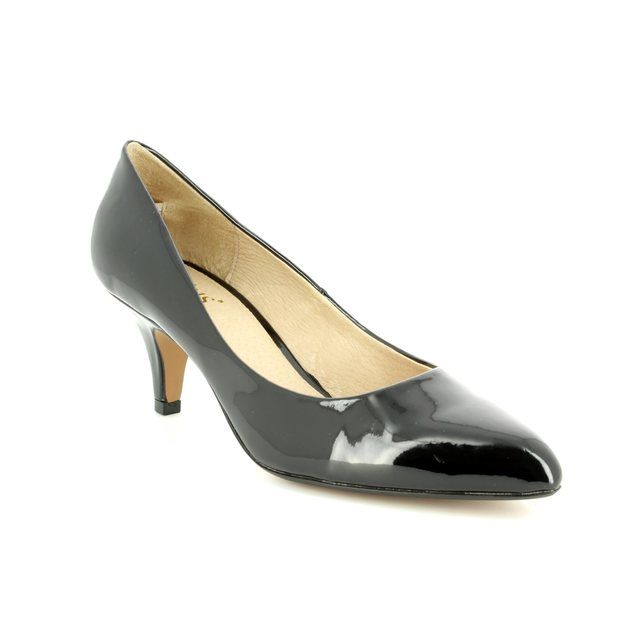 Lotus Heeled Shoes - Black patent - 50594/40 CLIO