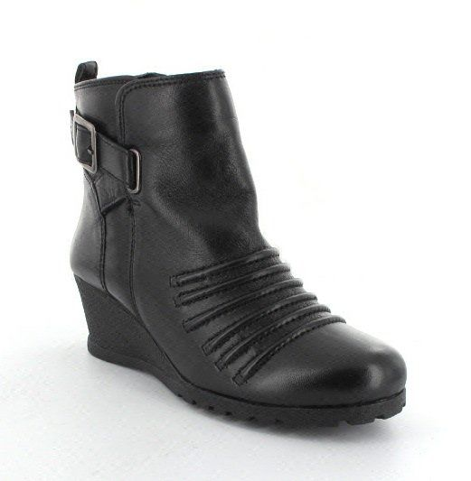 Lotus Division Black ankle boots
