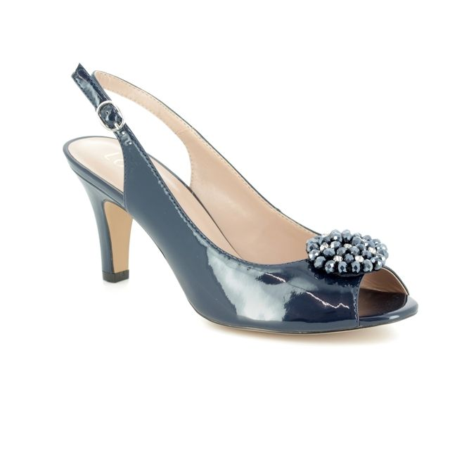 Lotus High-heeled Shoes - Navy patent - 50827/70 ELODIE