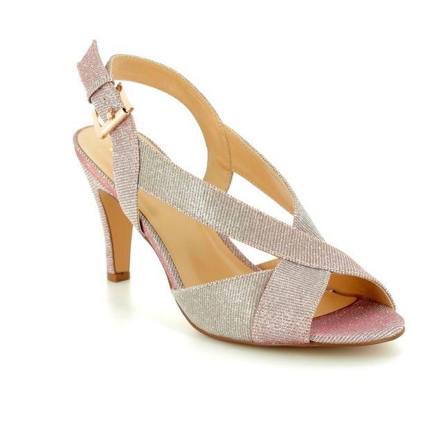 Lotus Endive Pink Heeled Sandals