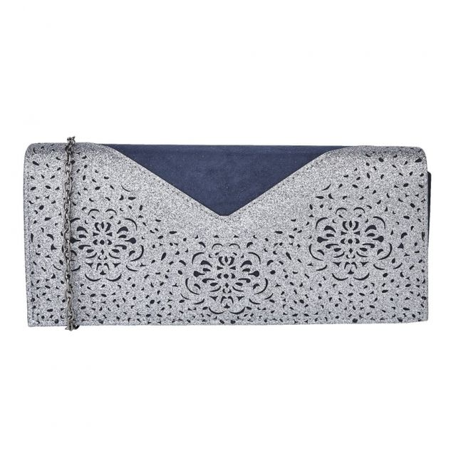 Lotus Matching Handbag - Navy multi - 01708/70 FIDDA ARLIND