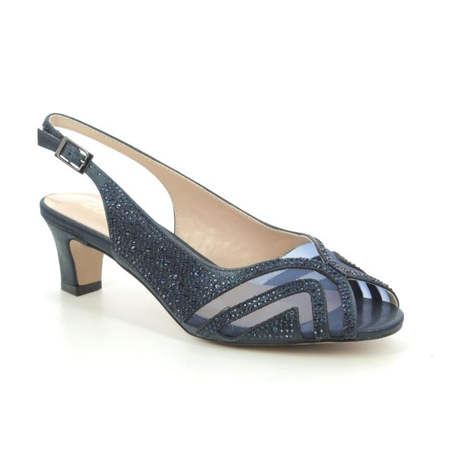 Lotus Glinda Navy Heeled Sandals