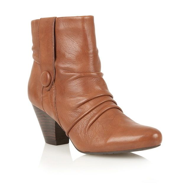 Lotus Graphite Tan ankle boots