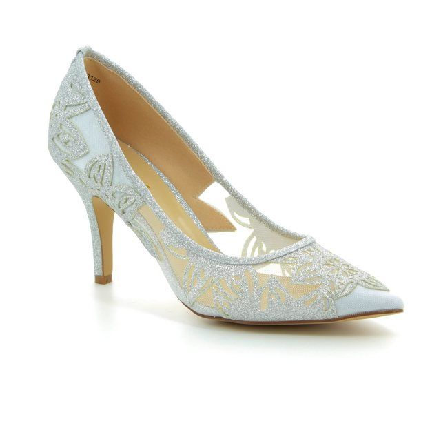 Lotus High-heeled Shoes - Silver Glitz - 50910/01 GROOVE