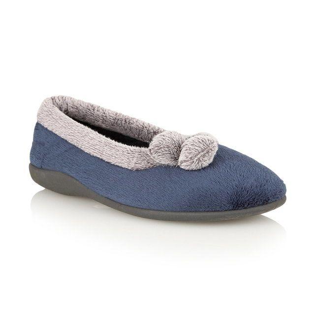 Lotus Harriet Navy slippers