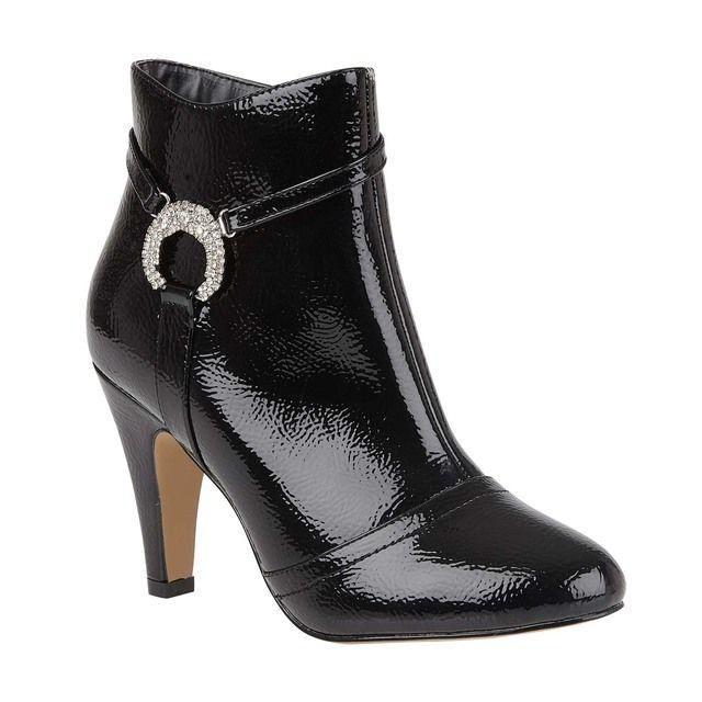Lotus Ankle Boots - Black patent - ULB102/40 ADAR