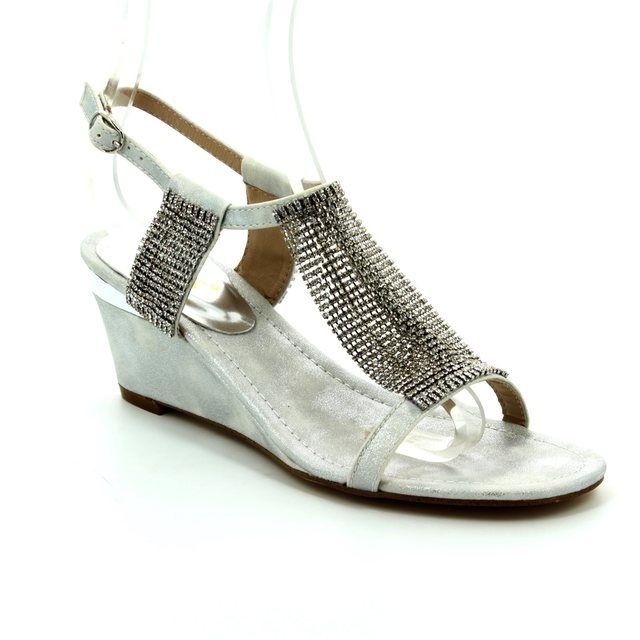 Lotus Klaudia Silver high-heeled shoes