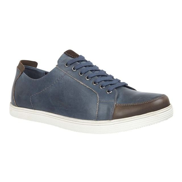 Lotus Kyle Navy leather casual shoes