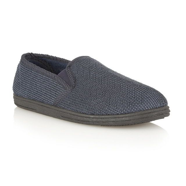 Lotus Langdon Navy multi slippers