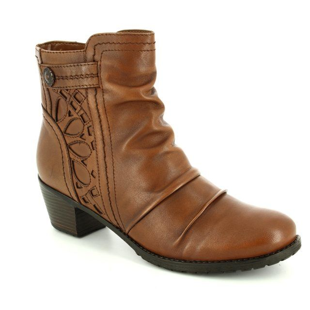 Lotus Ankle Boots - Tan - 40396/10 MAPLES