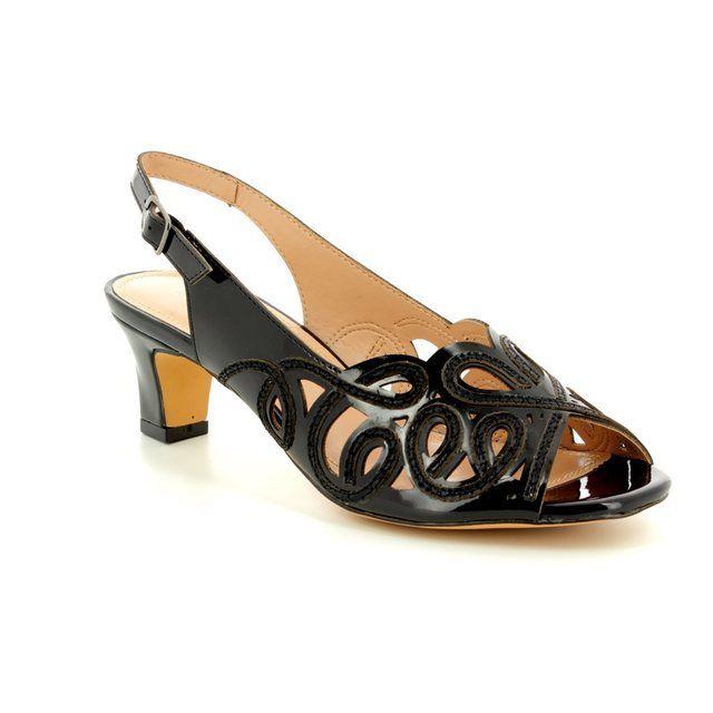 Lotus Heeled Sandals - Black - MARIANNA 50902/30