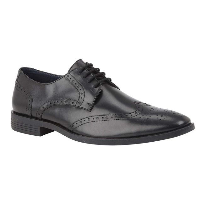 Lotus Mason Black leather Brogues