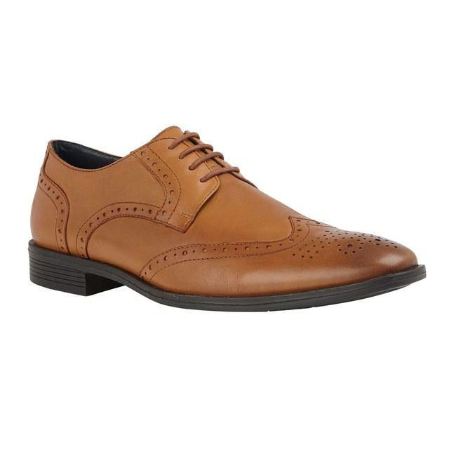 Lotus Mason Tan Leather Brogues
