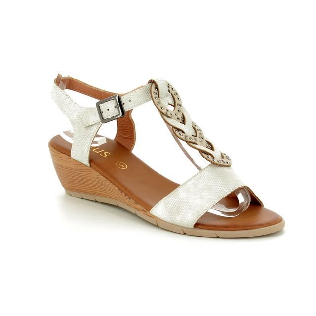 Lotus Wedge Sandals - White - 20413/66 ORTA