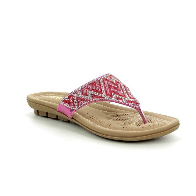 Lotus Patti Fuchsia Toe Post Sandals